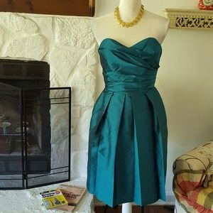 ALFRED SUNG TEAL COCKTAIL PARTY DRESS SIZE 4